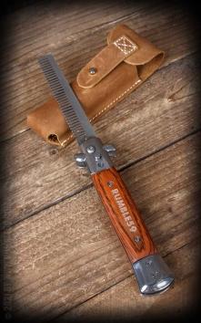 Rumble59 - Peigne à cran darrêt avec un sac de cuir