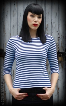 Striped Shirt Lets be Audrey! - blue