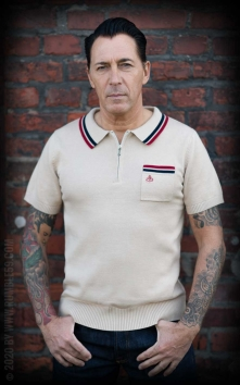 Knitted Polo Shirt Rockford - beige