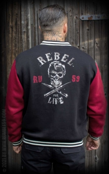 Male Sweat College Jacket - Rebel for life