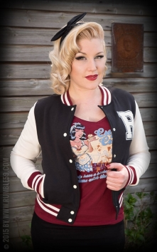 Ladies Sweat College Jacket - noir