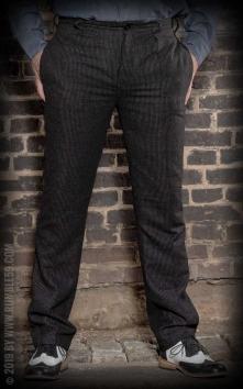Vintage Slim Fit Pants Pasadena - gestreift schwarz/grau