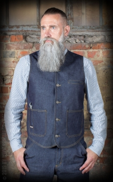 RAW Denim Vest - Dapper Workman