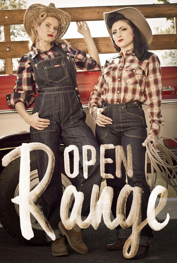 Cowgirls vor Truck